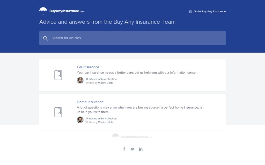 تم تصميم مركز المساعدة لدينا لتسهيل حصولك على التأمين أونلاين