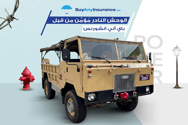 السيارات النادرة في الإمارات وتأمين الوحش الفامبير لاندر روفر 101