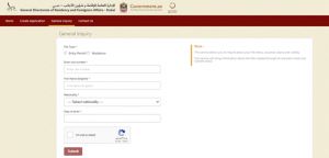 Inquire about the validity of the visa or visa issued in Dubai