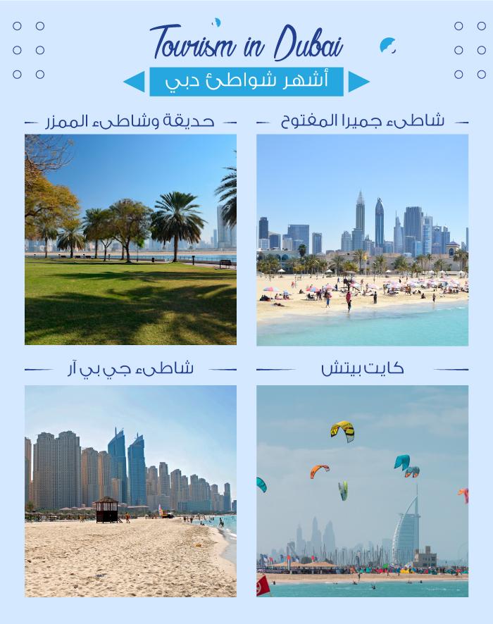 أشهر شواطىء دبي