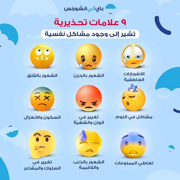 أعراض وجود مشكلة نفسية