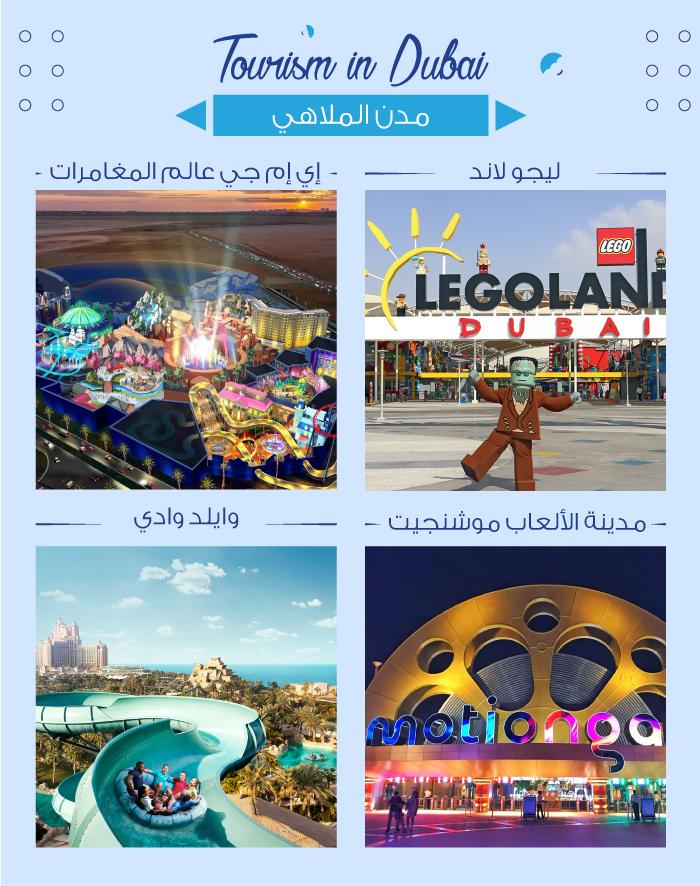 مدن الألعاب والملاهي في دبي