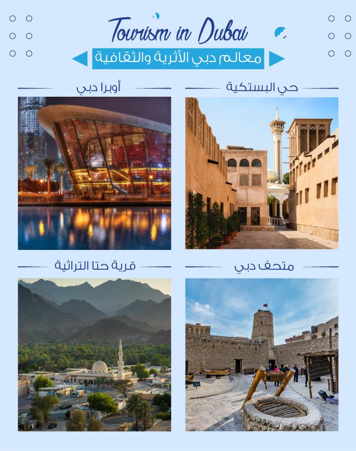 السياحة في دبي وأهم الوجهات التراثية والثقافية