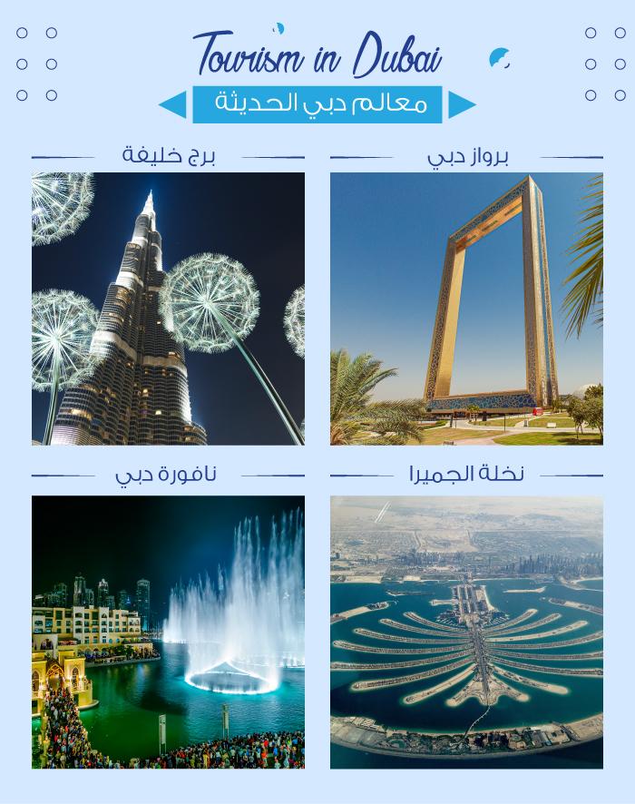 معالم دبي الحديثة